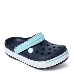 Crocs kids navy and ice croc band shoes